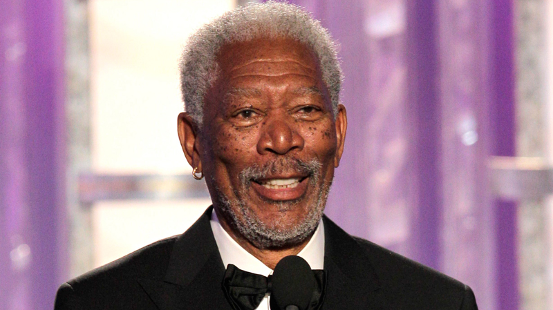 Morgan Freeman accepts the Cecil B. DeMille Award during the 69th Annual Golden Globe Awards on Sunday, Jan. 15, 2012 in Los Angeles. (Paul Drinkwater)