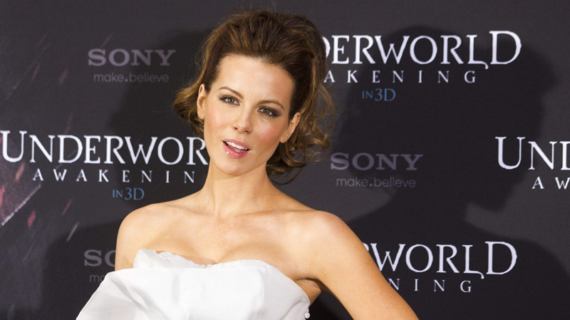 British actress Kate Beckinsale poses during a photo call to promote her movie 'Underworld: Awakening' in Berlin, Germany, Thursday, Jan. 26, 2012.